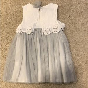 First Impressions Dresses - Gray & White Tulle Dress (18 months)